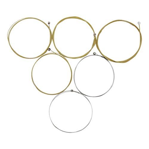 CUTICATE Set of 6 Guitar Strings Replacement Steel String Set for Acoustic Folk - Folk Strings Steel Guitar