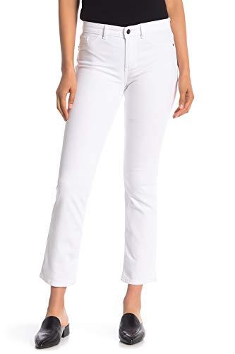 Theory Mid-Rise Split Hem Skinny Jeans (25, Optic White)