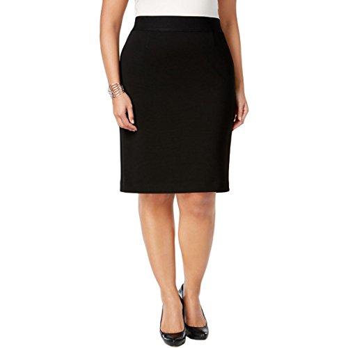 Nice Alfani Womens Plus Classic Textured Stretch Pencil Skirt 20W Deep Black for sale