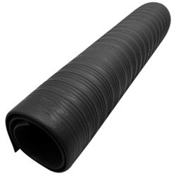 Ludlow Composites Black Roll 3-ft x 60-ft 0.375-in Anti-Fatigue Mat