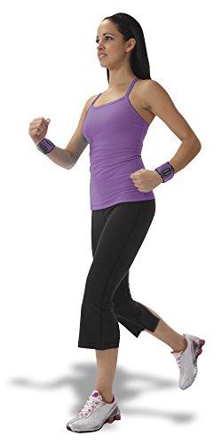 Empower Wrist Weights for Women, Adjustable, Exercise, Weight Resistance Training, Running, Walking, Toning, 3 lb Set, Purple