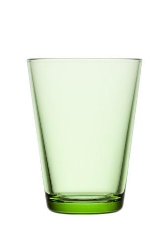 Iittala Kartio 13-Ounce Tumbler, Apple Green, Set of (Kartio Glassware Set)
