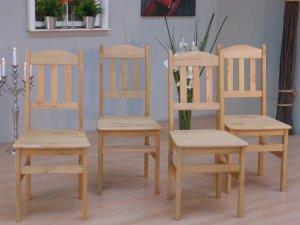 4 Stühle kiefer massiv gelaugt/geölt: Amazon.de: Küche & Haushalt