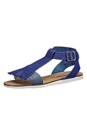 Sandalia de piel Wosh Azul