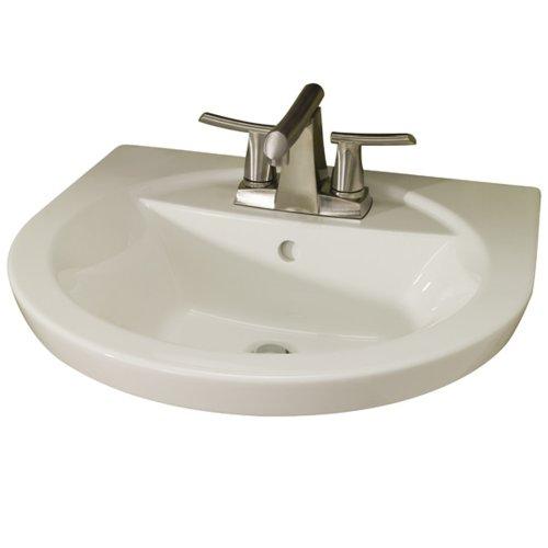 American Standard 0403.004.222 Tropic Petite 4-Inch Center Faucet Holes Pedestal Basin, Linen