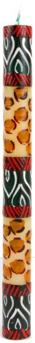 Nobunto, Dinner candle 23cm Uzima handmade made in Africa hand-painted African candle in different designs