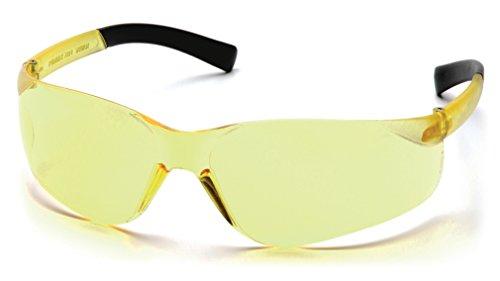 Safety Wrap - Pyramex Mini Ztek Safety Eyewear, Amber Lens With Amber Frame