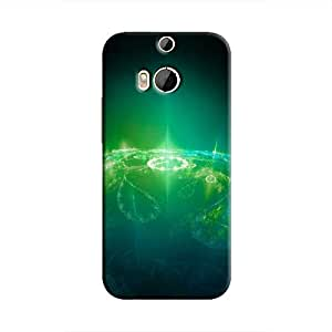 Cover It Up - Green Pattern Planet One M8 Hard Case