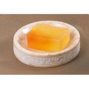 Creative Home Spa Hand Carved Marble Soap Dish