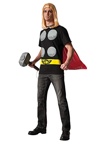 Rubie's Men's Marvel Universe Thor Adult Costume T-Shirt and Cape, Multi, Medium -