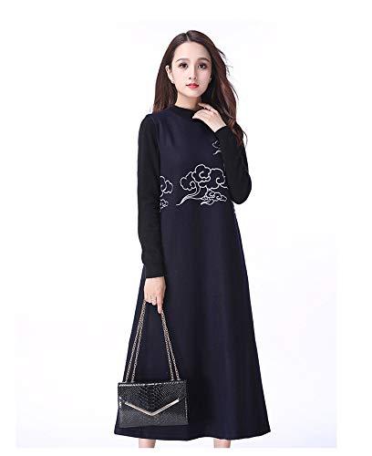 08987c6189ae Liuxc abito Abbigliamento da Donna di Grandi Dimensioni Gonna Gilet in Lana  Ricamata con codice Grande. Clicca sull immagine per la visualizzazione  estesa