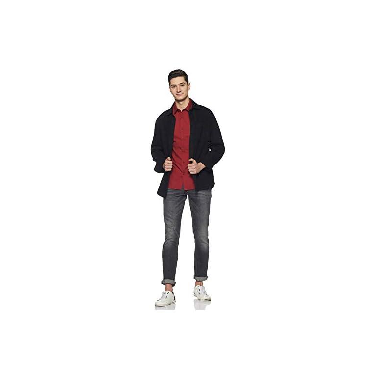 31938I10HrL. SS768  - Amazon Brand - Symbol Men's Solid Regular Fit Casual Shirt