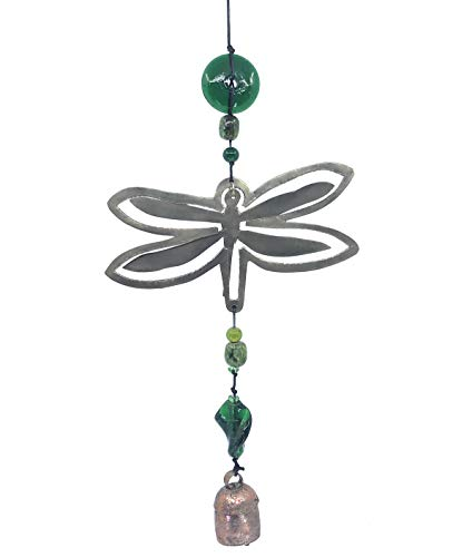 (Ella Sussman Dragonfly Beaded Outdoor Wind Chime Handmade Garden Soothing Nana)