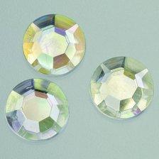 efco-Filo decorativo in cristalli sfaccettati, toni di rosa, in acrilico, con cristalli, 8 mm, 150 pezzi 1496202