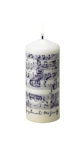 Biedermann U0026 Sons Mozart Music Pillar Candle, Purple Print Photo