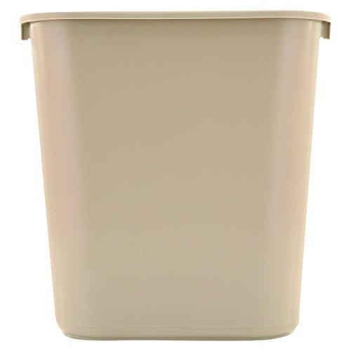 7-Gallon Plastic Trash Can, Beige, Rubbermaid