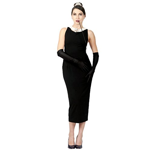 Original Complete Audrey Hepburn Black Dress Costume – the Breakfast at Tiffany's costume set (S)
