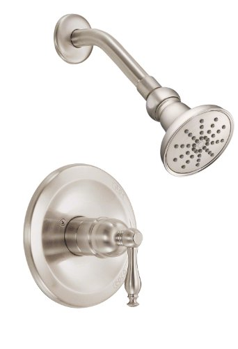 Danze D520655BNT Sheridan Single Handle Shower Trim Kit, 2.5 GPM, Valve Not Included, Brushed Nickel