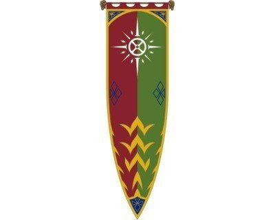 Lord of the Rings - Flag - The Banner of Rohan III - 23x78 Inch Limited Edition