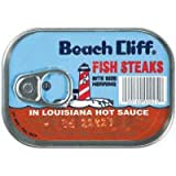Beach Cliff Herring Fish Steaks In Louisiana Hot Sauce Bite Size, 3.75 OZ (Pack of 18)