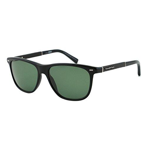 Ermenegildo Zegna EZ0009 01N ZEISS Men Black Polarized Wayfarer Sunglasses - Zeiss Sunglasses