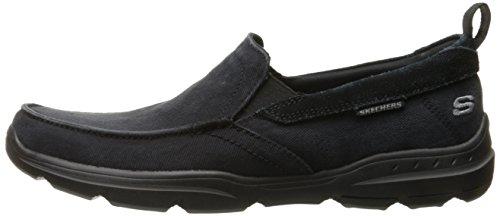 Skechers USA Men's Harper Delen Slip-On Loafer,Black Canvas,10 M US by Skechers (Image #5)