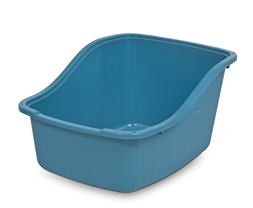 Petmate Plastic Hi-Back Cat Litter Pan, Jumbo, Assorted colors