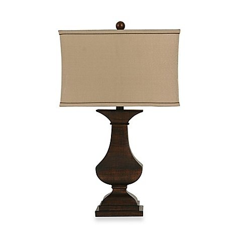 Bradford Table Lamp in Bronze | 3-way Switch , 100-watt (Shade 3 Way Switch)