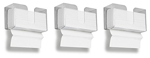 TrippNT 51937 Small Dual Dispensing Paper Towel holder with 150 9.2 x 9.4 inch Multi-Fold Paper Towel Capacity and Peelable Protective Film (3-(Pack))
