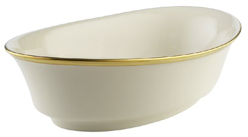 Lenox Eternal Large Fine China Open Vegetable - Bowl Oval White