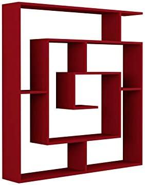Brightify Geometric Bookcase Red