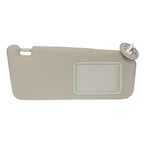 Passenger Right Sun Visor for 2009-2016 Toyota Venza with Sunroof 74310-0T022-A1 Beige