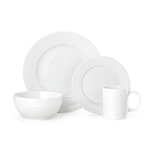 Pfaltzgraff Cassandra 16-Piece Porcelain Dinnerware Set, Service For (12 Ounce Melamine Bowl)