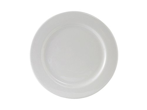 (Tuxton ALA-090 Vitrified China Alaska Plate, Wide Rim, Rolled Edge, 9