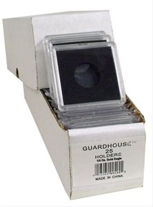 2×2 Coin Holders Box of 25 Guardhouse Snaplocks for 1/4 Ounce Gold Eagles