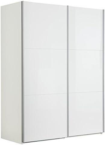 Composad - Armario de Dos Puertas correderas con Frente Blanco Brillante AR8880, anch.151 x alt. 200,3 x Prof. 63,3 cm: Amazon.es: Hogar