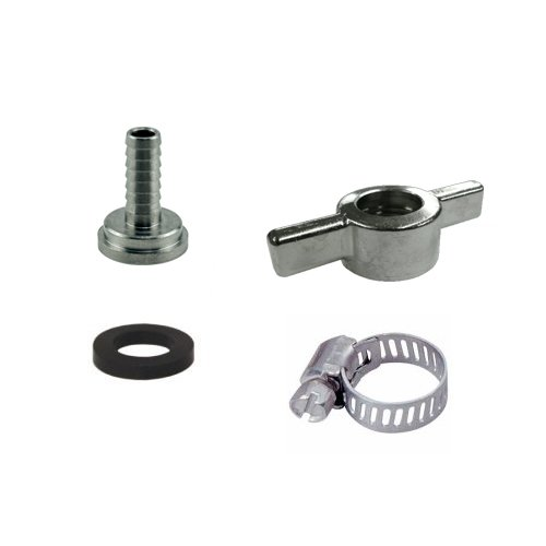 Bev Rite CPCCM193SS Connector Kit For Beer Line With Wing Nut, Stainless Steel Contact (304 Grade)
