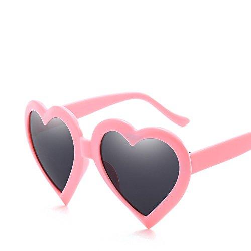 De Rojo Corazón Mujeres Con pink Barata Color Sol Sol De De Hembra Caramelo Uv400 Gafas De Rojo TIANLIANG04 Sobredimensionado Gafas Rosado Forma Blanco Parte De nFHwH0Yq