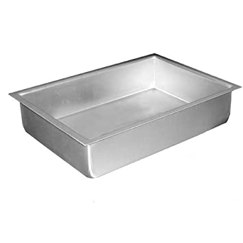 amazoncom fat anodized aluminum sheet cake pan 7 inch by 11 inch by 2 inch rectangular cake pans kitchen u0026 dining