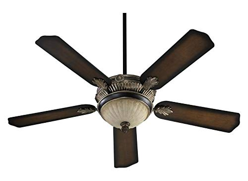 Three Light Old World with Antique Flemish Ceiling Fan ()