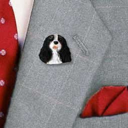 Conversation Concepts Black & White Cavalier King Charles Pin