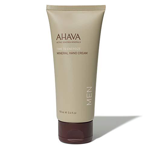 AHAVA Men's Dead Sea Mineral Hand Cream, Time to Energize -