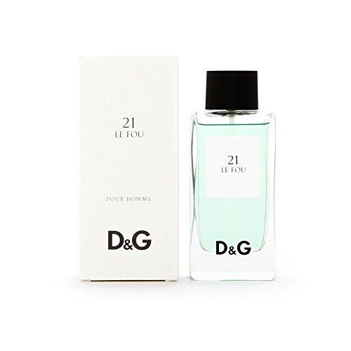 Dolce and Gabbana D and G Le Fou 21 Eau de Toilette Spray for Men, 3.3 Ounce