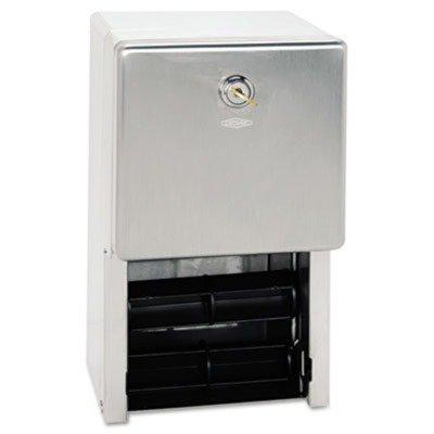 BOB2888 Stainless Steel 2-Roll Tissue Dispenser, 6 1/4 x 6 x 11, Stainless Steel