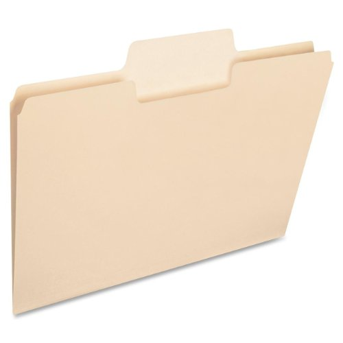 Smead SuperTab Heavyweight File Folder, Oversized 1/3-Cut Tab, Letter Size, Manila, 50 Per Box (10401)