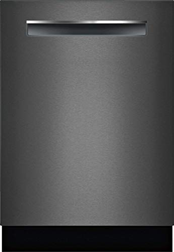 Bosch SHPM78Z54N 24″ 800 Series Fully Integrated Pocket Handle Dishwasher with 16 Place Settings, Flexible 3rd Rack, InfoLight and CrystalDry (Black Stainless Steel)