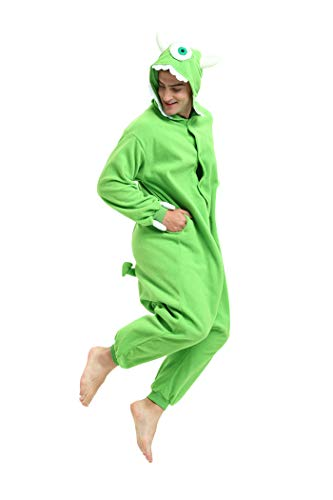 Es Unico Mike Wazowski Onesie Pajama Costume for Adults and Teenagers X-Large by Es Unico (Image #6)