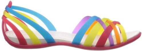 Women Huarache Crocs Multi Flat Multicoloree Donna Geranium Ballerine azaWEUqnw