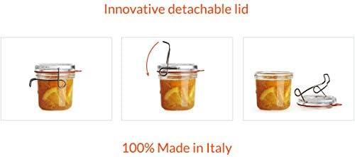 1 Liter Serving /& Storing Glass Jars Preserving Luigi Bormioli 12327//01 Lock-Eat Canning Clear
