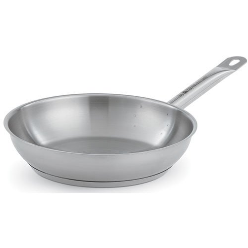 VOLLRATH 3812 Stainless Steel Fry Pan, 12-1/2 In. Dia.
